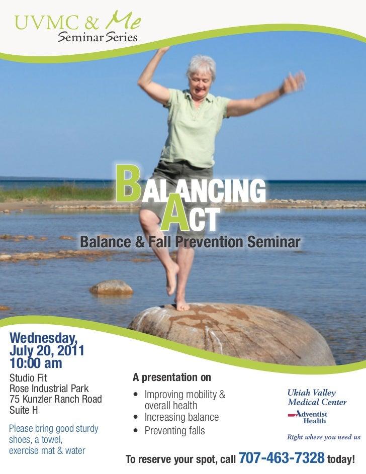 UVMC & Me            SeminarSeries                            BALANCING                              ACT                  ...