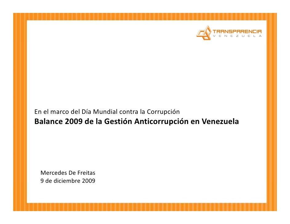 Balance AnticorrupcióN De Venezuela En 2009