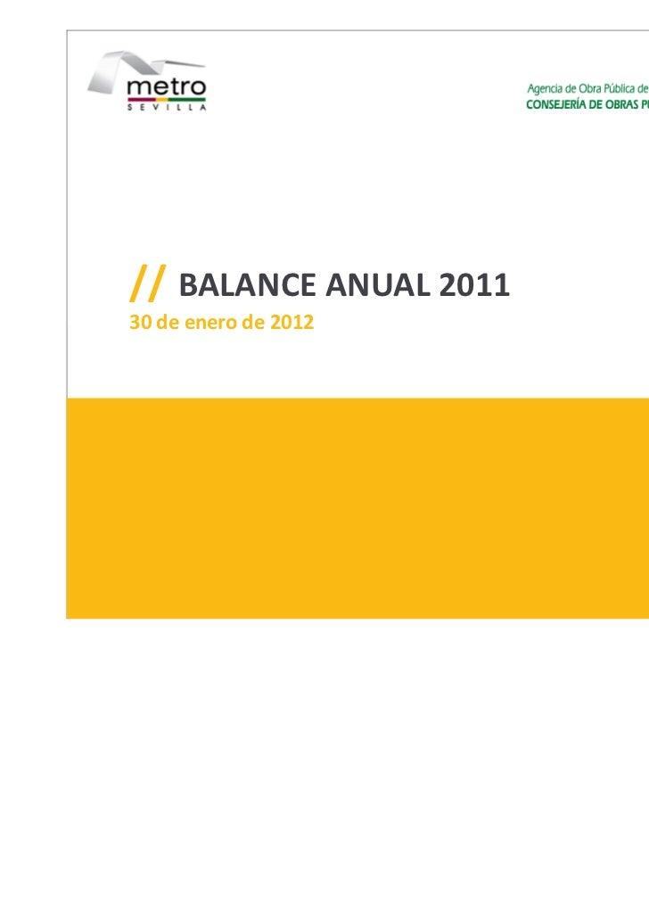 // BALANCE ANUAL 201130 de enero de 2012                        1