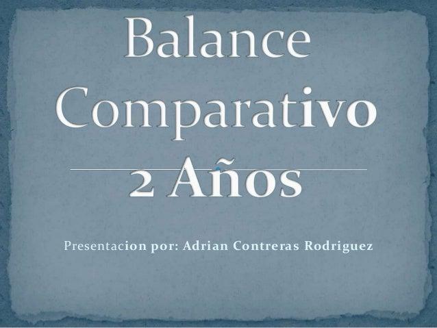 Balance Comparativo Dos Años