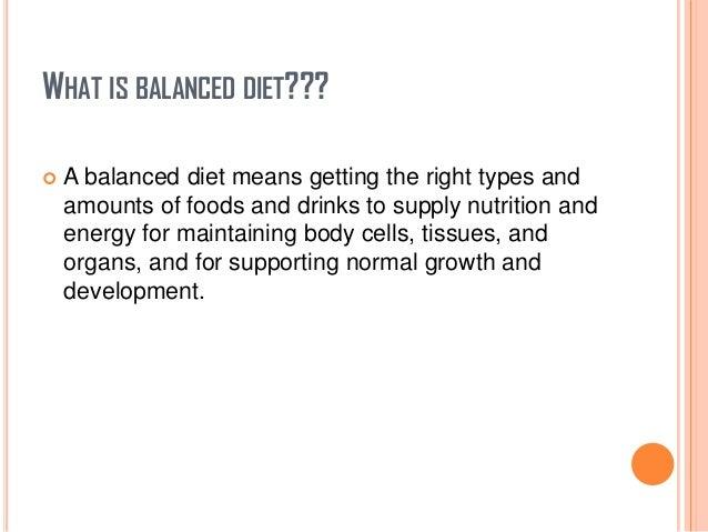 Essay on a balance diet