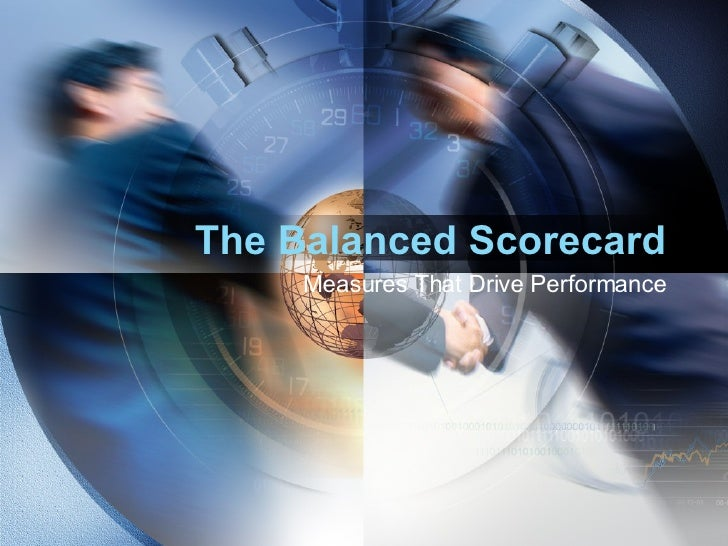 The Balanced Scorecard Measures That Drive Performance
