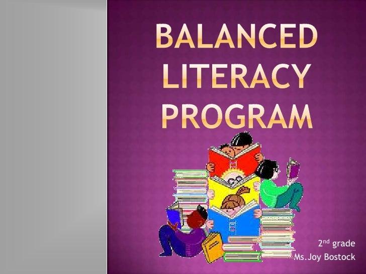 Balanced literacy presentation bostock