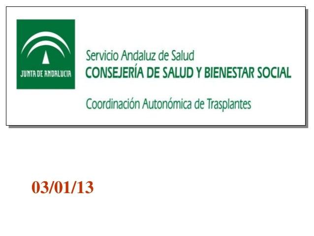 Balance donaciones y trasplantes 2012 en Andalucía