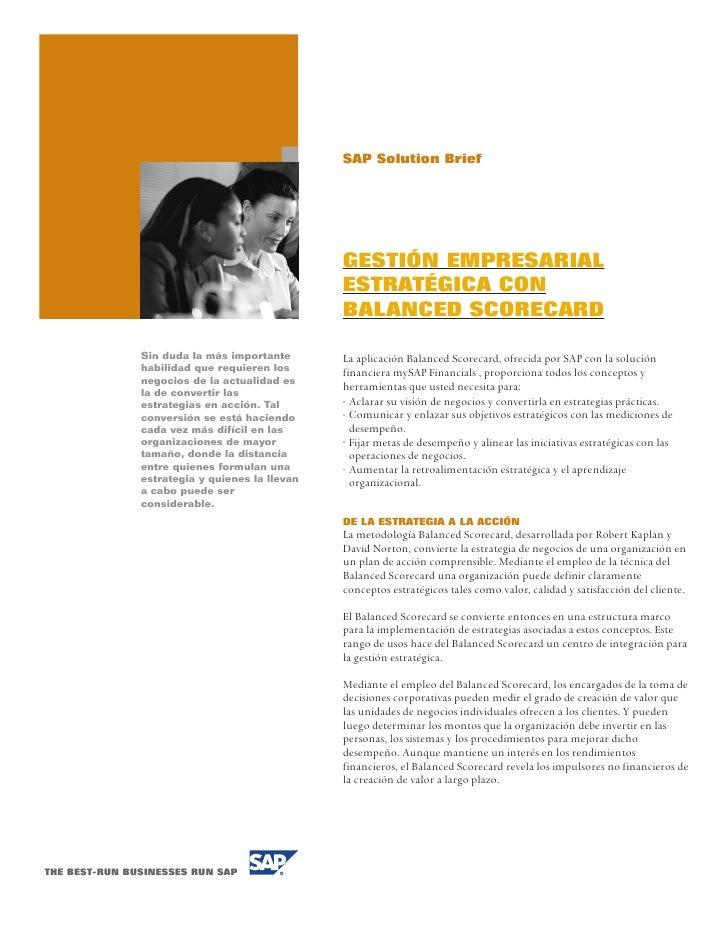 SAP Solution Brief                                                     GESTIÓN EMPRESARIAL                                ...