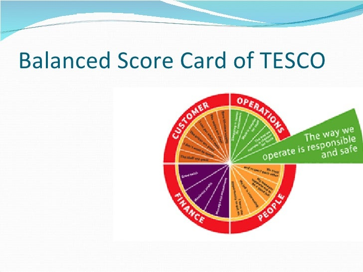 the balance scorecard of tesco It is arguable that by embedding its values in the steering wheel, tesco transformed its balanced scorecard from a management framework to a cohesive living strategy the tesco steering wheel evolves from, and is the route to fulfilling, the retailer's core purpose–to create value for customers to earn their.