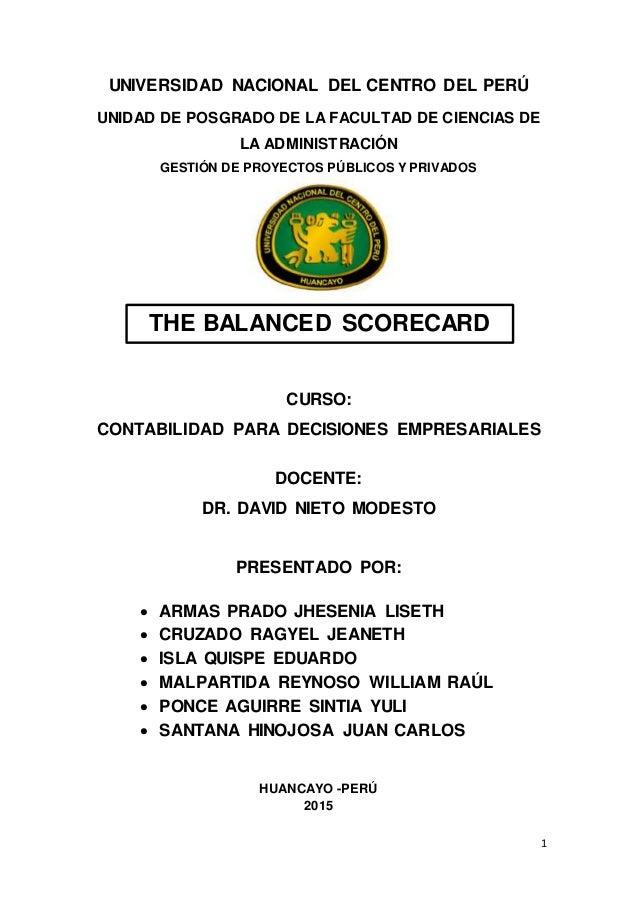 1 UNIVERSIDAD NACIONAL DEL CENTRO DEL PERÚ UNIDAD DE POSGRADO DE LA FACULTAD DE CIENCIAS DE LA ADMINISTRACIÓN GESTIÓN DE P...
