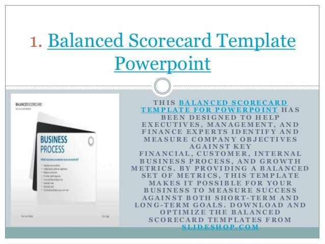 Free Balanced Scorecard PowerPoint Template  FPPT