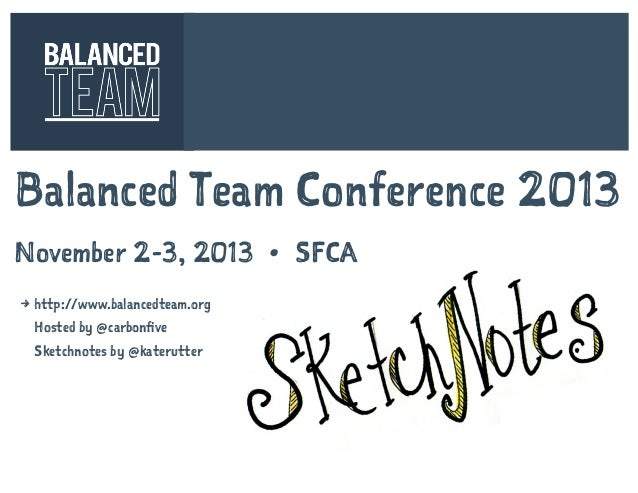 Sketchnotes of the Balanced Team 2013 Conference [Nov 2-3, 2013 in SF, CA]