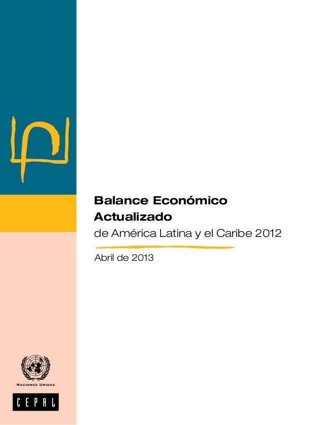 Balance económico 2012