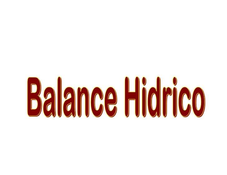 Balance hidrico, mecanismo de contracorriente 2011