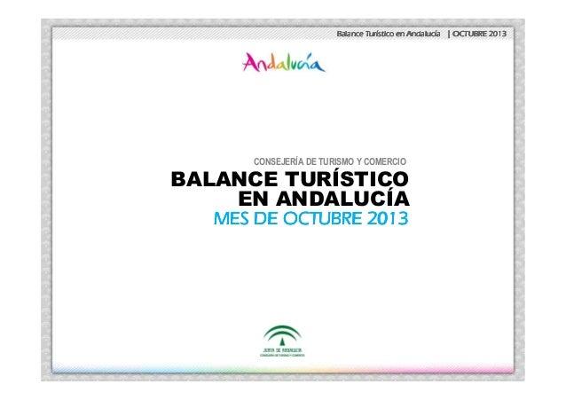 Balance Turístico de Andalucía. Octubre 2013