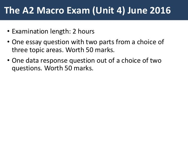 macroeconomics exam essay questions