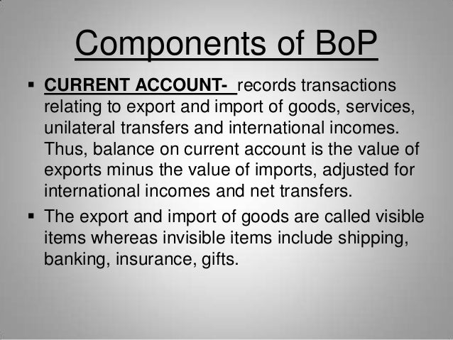 how exchange rate relates to bop Exchange rate and balance of transactions in the balance of payments the relative version of ppp relates changes over time in an equilibrium exchange rate.