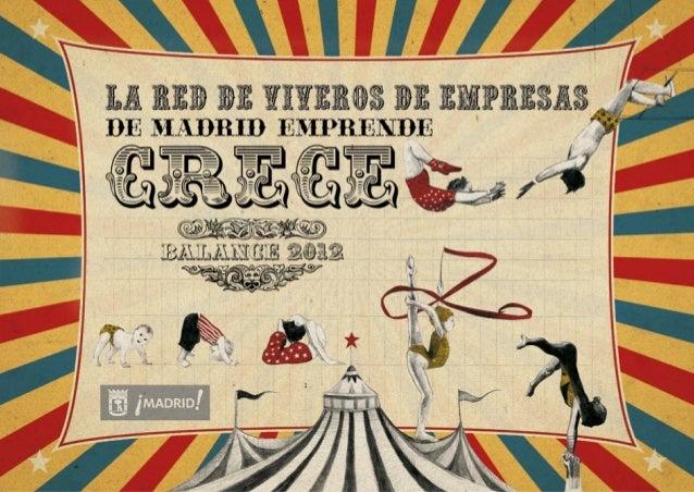 Balance Red de Viveros de Empresas de Madrid Emprende 2012