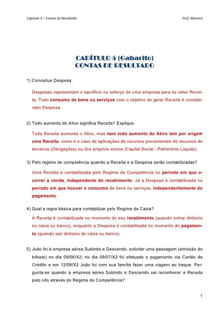 Capítulo5–ContasdeResultado                                             Prof.Moreira                              ...