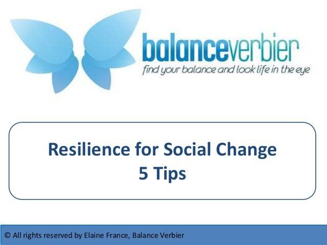 Resilience Tips for Social Entrepreneurs