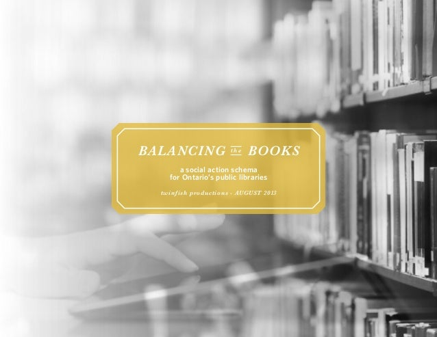 Balancing the books (august 2013)