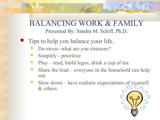 Family Balance Balancing Work Family