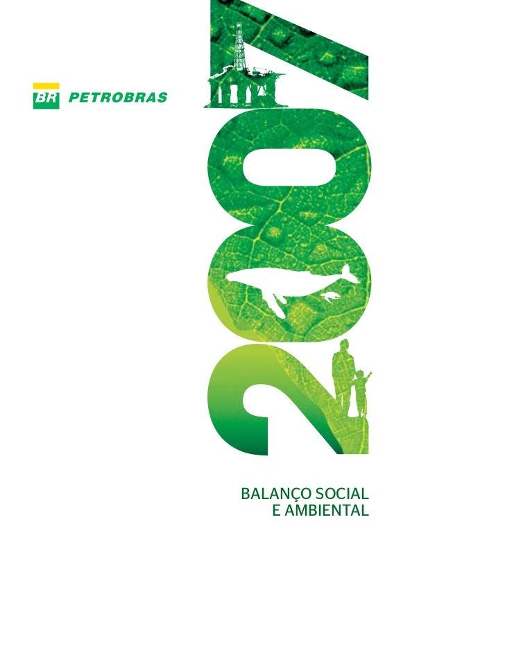 BALANÇO SOCIAL    E AMBIENTAL