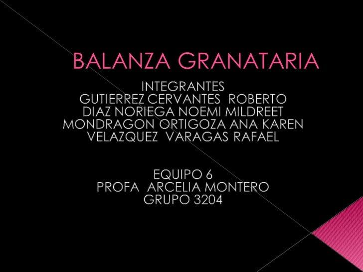Balanza Granataria