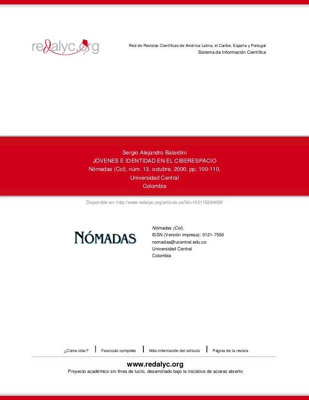 Red de Revistas Científicas de América Latina, el Caribe, España y Portugal  Sistema de Información Científica  Sergio Ale...