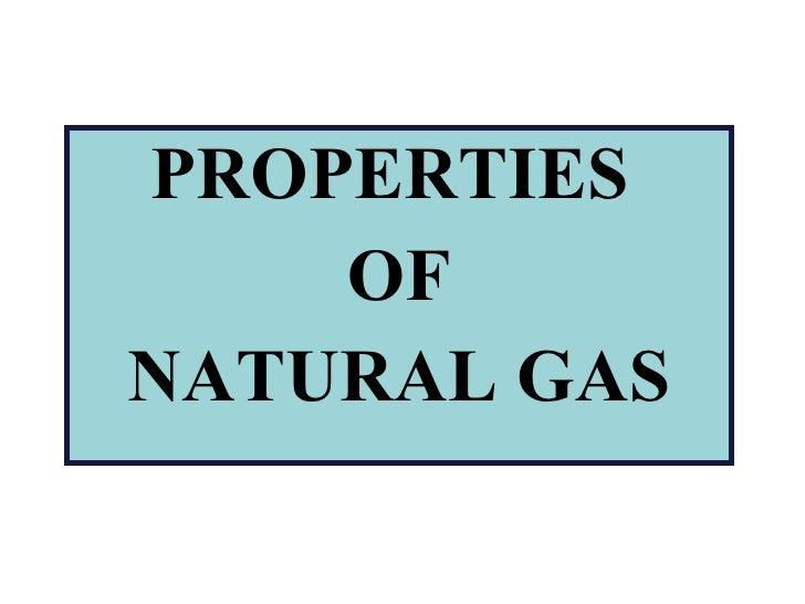 Ricardo Balboa - Properties Of Natural Gas
