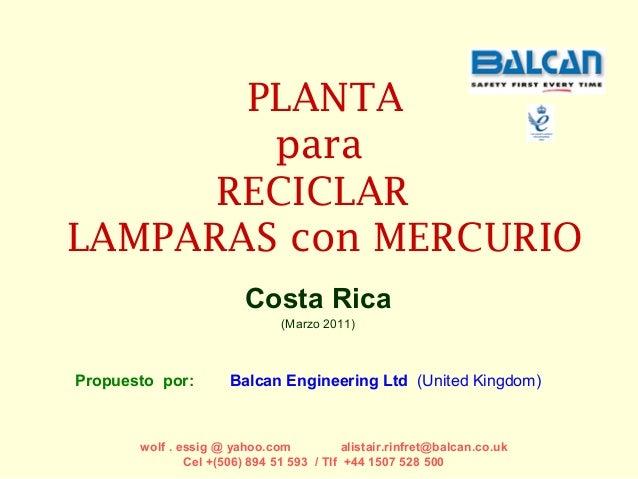 Balcan  Reciclaje de lamparas  lamp recyclingcan reciclaje lamparas para costa rica w-c