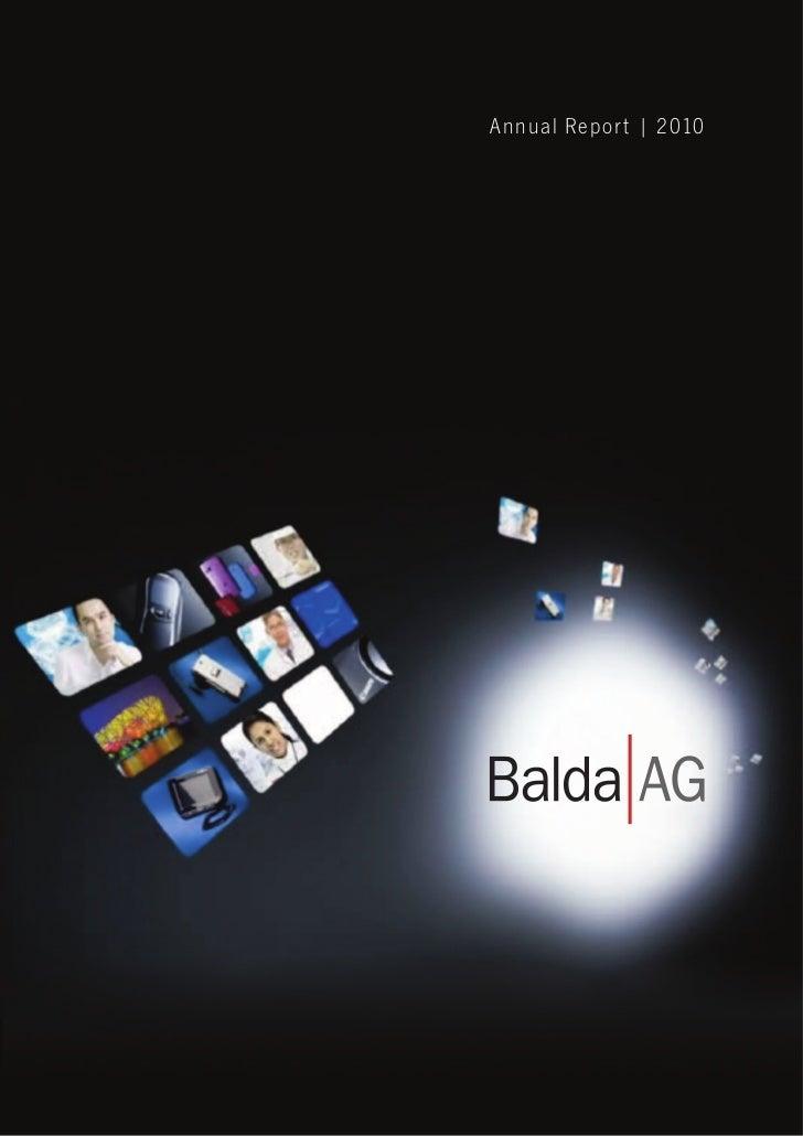 Balda Annual Report 2010