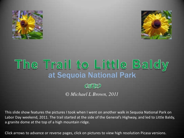 The Trail to Little Baldy<br />at Sequoia National Park<br /><br />© Michael L Brown, 2011<br />This slide show features...