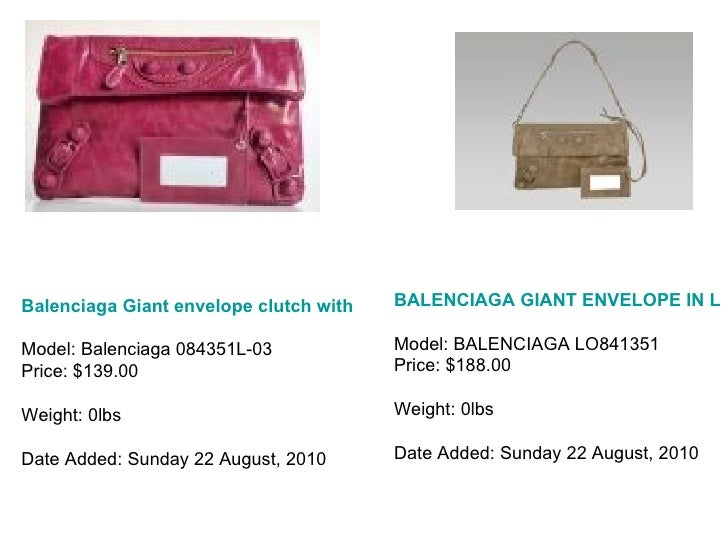 Balenciaga Giant envelope clutch with lace-light purple Model: Balenciaga 084351L-03 Price: $139.00 Weight: 0lbs Date Adde...