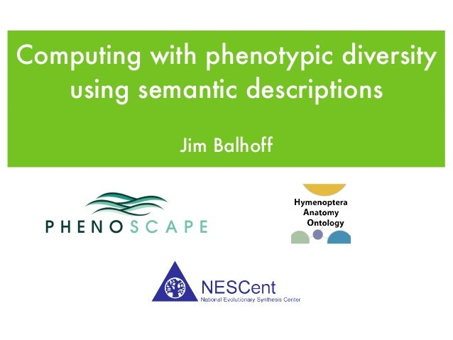Computing with phenotypic diversity using semantic descriptions