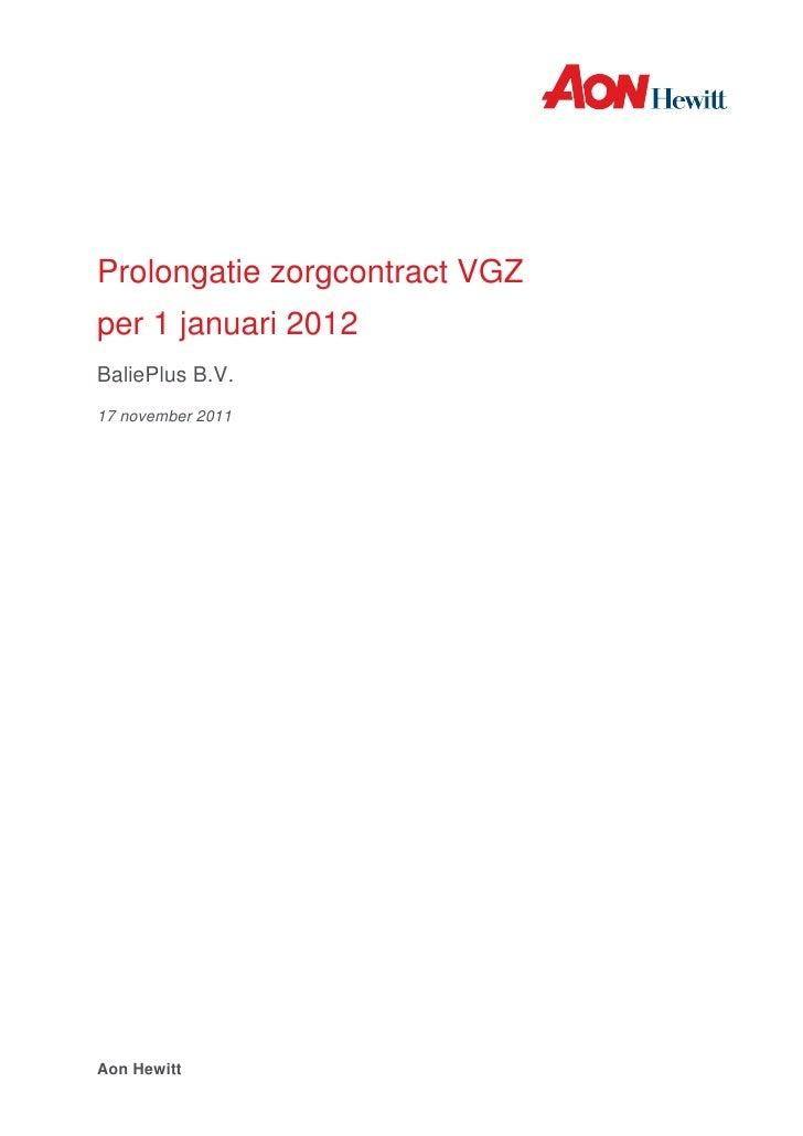 Balieplus vgz zorgrapportage 2012