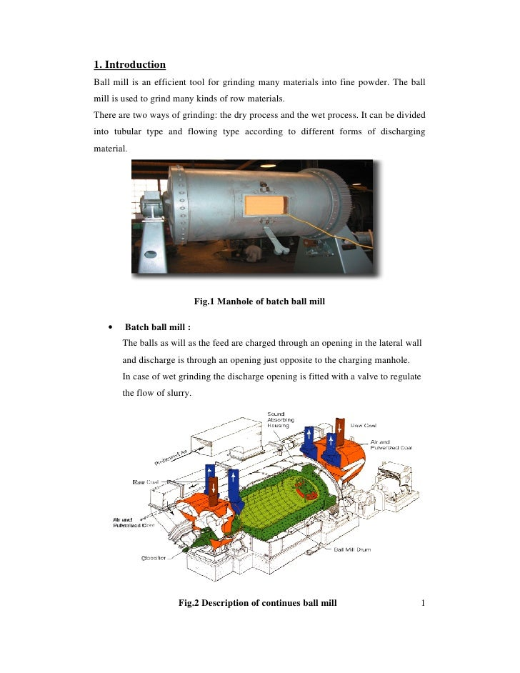the simple introduction of ball mill family essay The simple introduction of ball mill family essay - 426 words ball mill is the key mining equipment of material to be crushed, and then to smash.