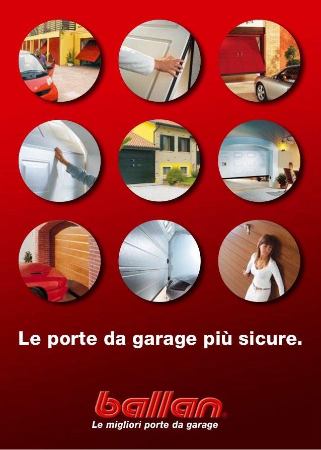 Le porte da garage più sicure.