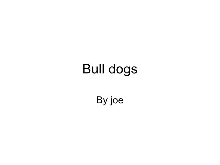 Bull dogs By joe