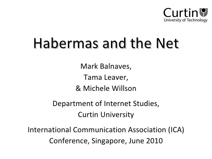 Habermas and the Net