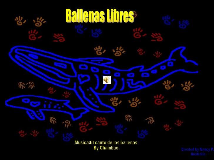 Ballenas Libres Musica:El canto de las ballenas By Chambao Created by Nancy P. Australia.
