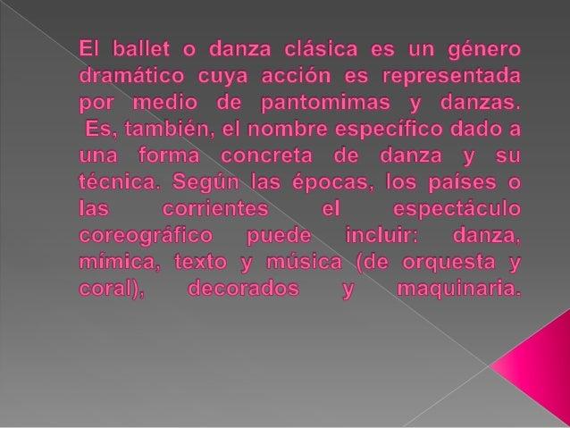 También se utiliza el término ballet para designar la pieza musical compuesta, a propósito, para que sea interpretada por ...