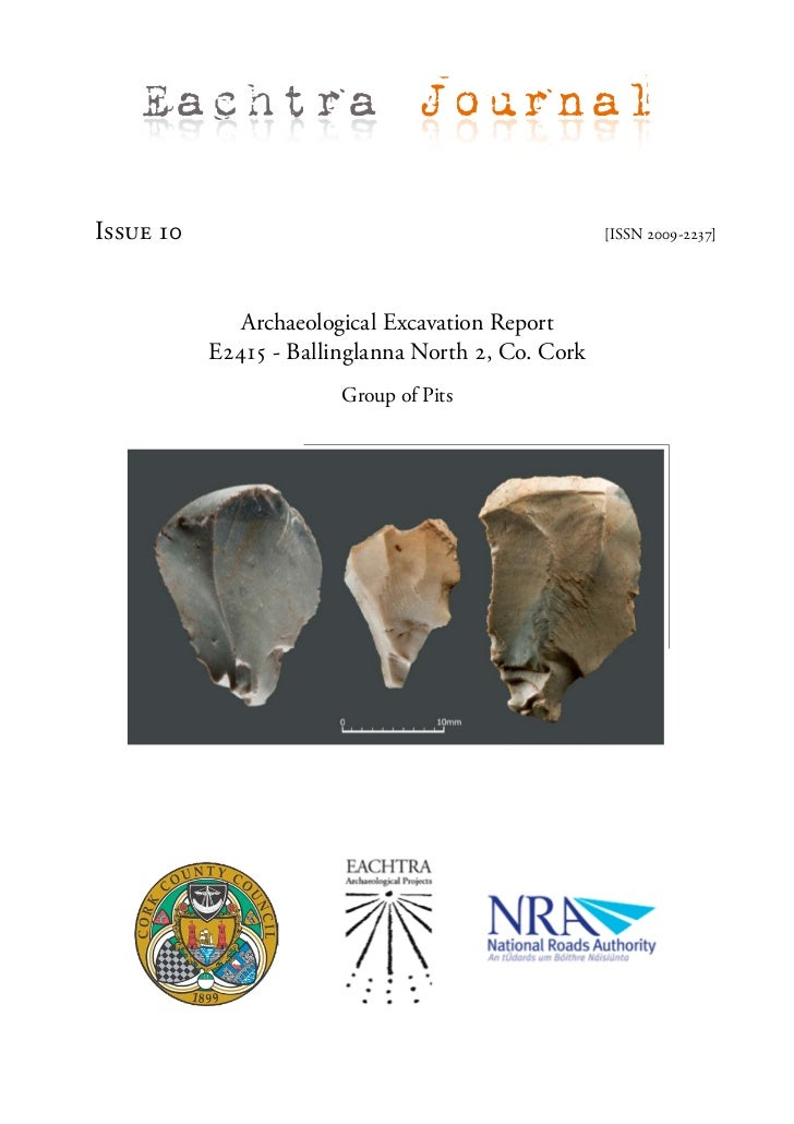 Archaeological Report - Ballinglanna North 2, Co. Cork (Ireland)