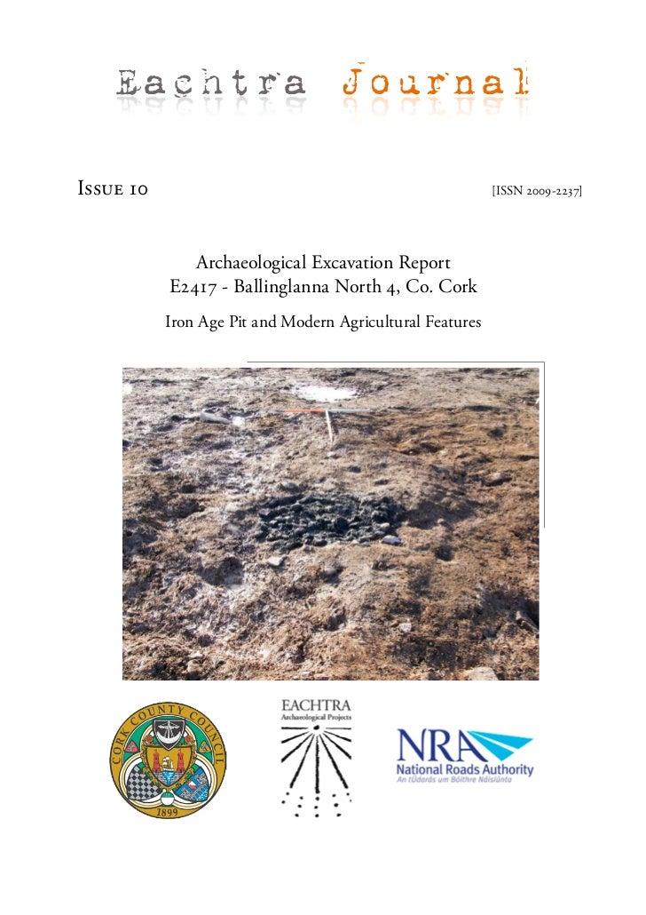 Archaeological Report - Ballinglanna North 4, Co. Cork (Ireland)