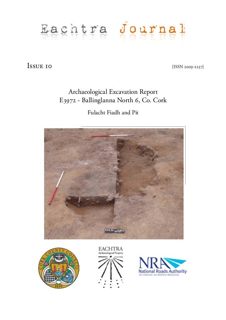 Archaeological Report - Ballinglanna North 6, Co. Cork (Ireland)