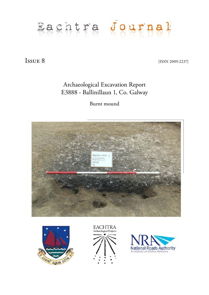 Eachtra Journal  Issue 8                                        [ISSN 2009-2237]                Archaeological Excavation ...