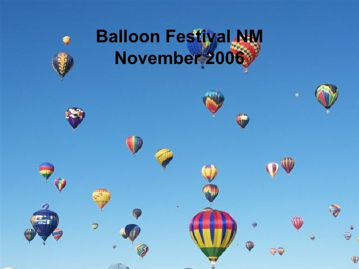 Balloon festival in New Mexico