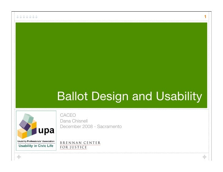Ballot Design And Usability Testing Caceo