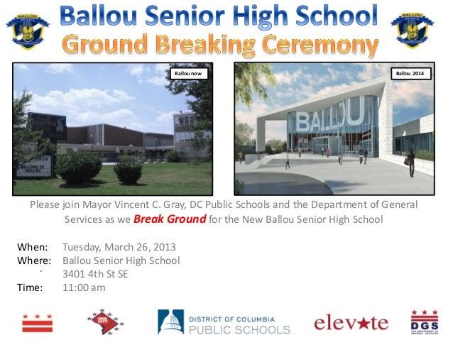 Ballou Senior High School Ground Breaking Ceremony