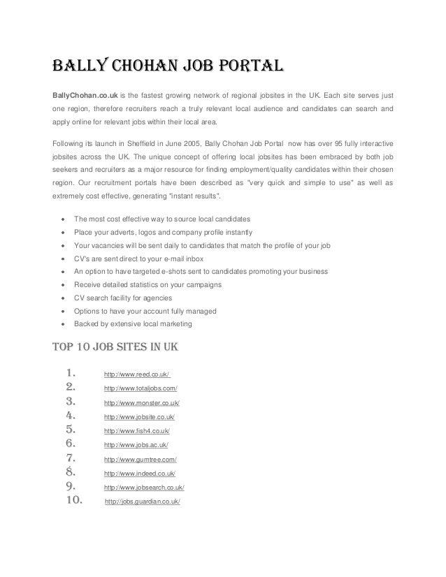 Bally Chohan Job Portal