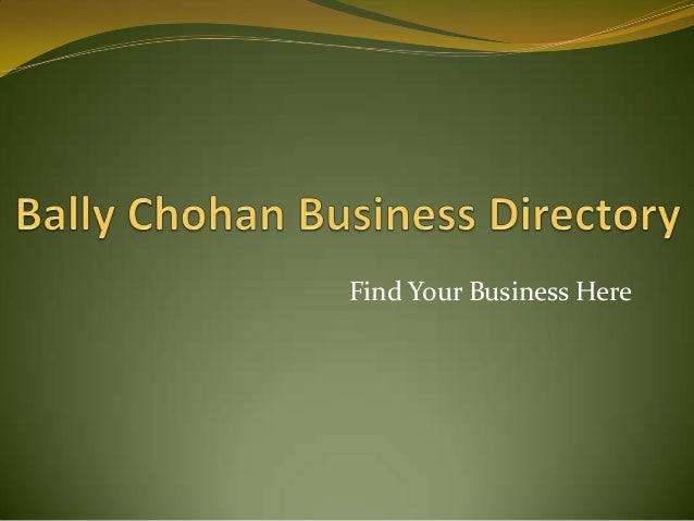 Find Your Business Here