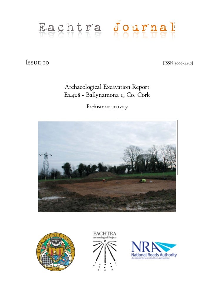 Archaeological Report - Ballynamona 1, Co. Cork (Ireland)