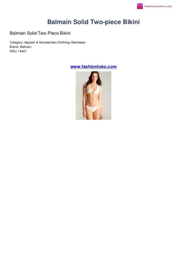 Balmain solid two piece bikini fashionloko review 968